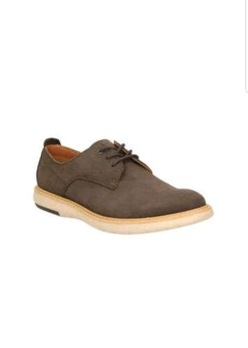 Real 8 Uk Plain Shoes Clarks Nubuck Leather Brown Nuevo Flexton Men's Tamaño vIw7zqBCn