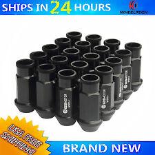 20 PCS 52mm Black Extended For M12X1.5 Honda Civic Acura Integra Wheel Lug Nuts