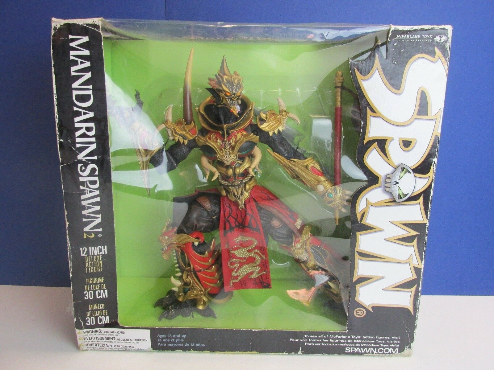 Large 12  MANDARIN SPAWN 2 DELUXE action figure todd mcfarlane RARE boxed 77w