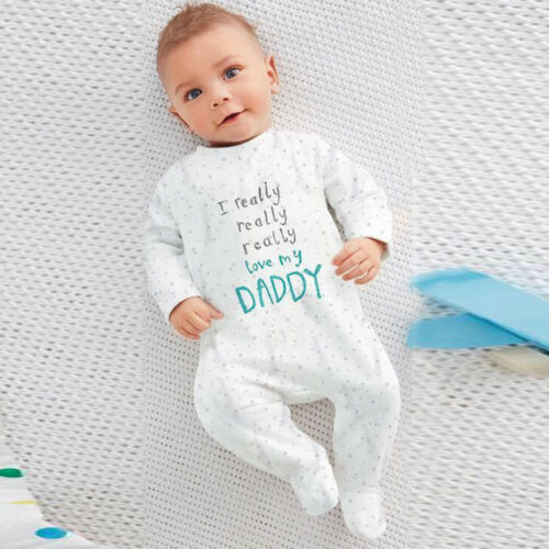 Trendy Handsome Lovely Newborn Toddler Infant Letter Romper Jumpsuit Clothes New