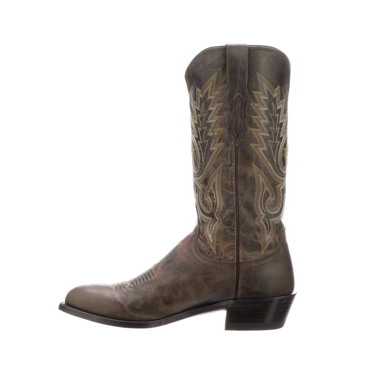 Handmade Men's braun Shaded Leather Cowboy Mexican Western Taxes Stiefel