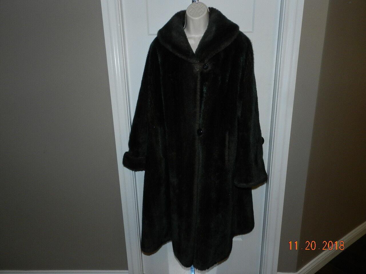 Princeton's Temptations Faux Fur Coat  Vintage no size