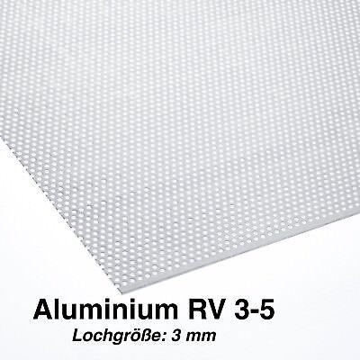 Lochblech Aluminium 1,5mm Lochbild QG10-15 Alu Blech 1000mm lang Breite wählbar