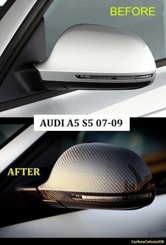 par Nuevo AUDI A5 07-09 Ala De Fibra De Carbono Espejo cubre A5//S5 OEM Montaje