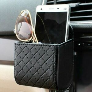 Car-Accessories-Auto-Outlet-Air-Vent-Mobile-Phone-Holder-Bag-PU-Leather
