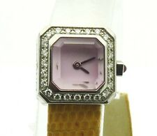 CORUM  Lady's Pink Sugar Cube Stainless Steel & Diamond Watch