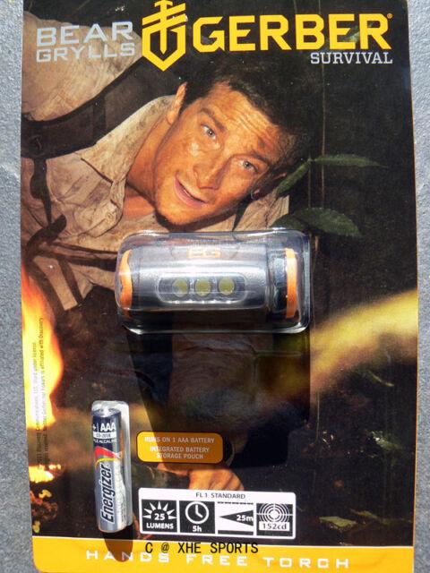 Gerber Bear Grylls Hands-Free Head Torch HeadLamp Headlight Flashlight 31-001028