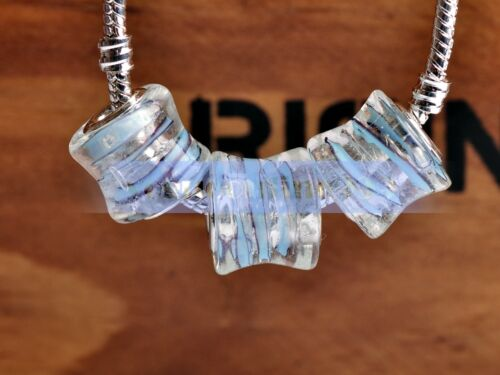 Drum Shape Lampwork Glass Loose Big Hole Beads Fit European Bracelets Jewelry