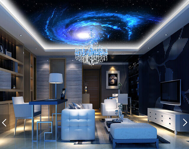 3D Blau Night Vortex WallPaper Murals Wall Print Decal Deco AJ WALLPAPER GB