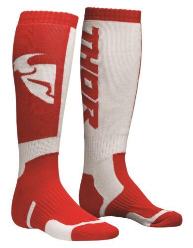 Thor Youth MX Socks Motocross Enduro Kniestrümpfe Sockren rot//weiß