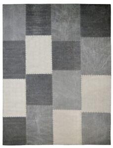 100/% Baumwolle Flachflorteppich Patchwork Design Multi Grün 160x230cm