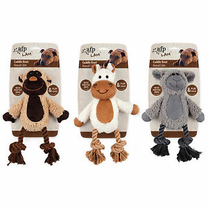 All-For-Paws-LAMB-CUDDLE-KNOTTED-ROPE-12-034-Dog-Toy-SQUEAKER