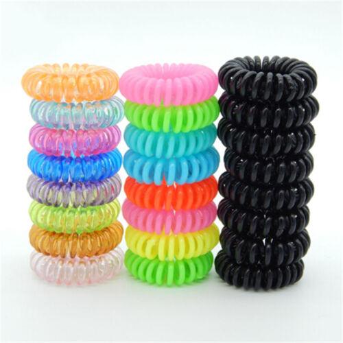 10 Pcs Plastic Hair Ties Spiral Hair Ties No Crease Coil Hair Tie Ponytail FL