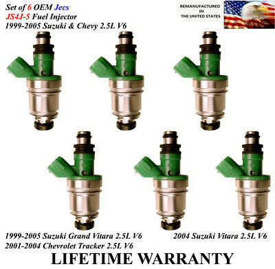New OEM Fuel Injector Set Of 6 for Ford and Mazda 1999-2005 3.0L.
