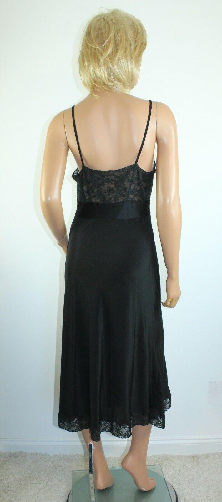 Vintage 1940's NAT LEWIS Black Silky Rayon Lace T… - image 5