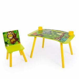 Homestyle4u pour enfant Étudier devoirs D'écriture table avec Motif Jungle B...