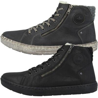 Rieker Schuhe Men Herren Mid Cut Freizeit Sneaker Stiefel Boots gefüttert 30921   eBay