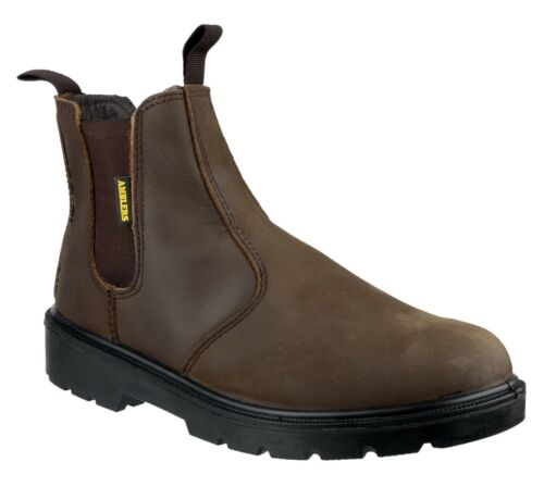 Amblers Safety Mens Brown Greasy Dealer Boot Various Size FS128