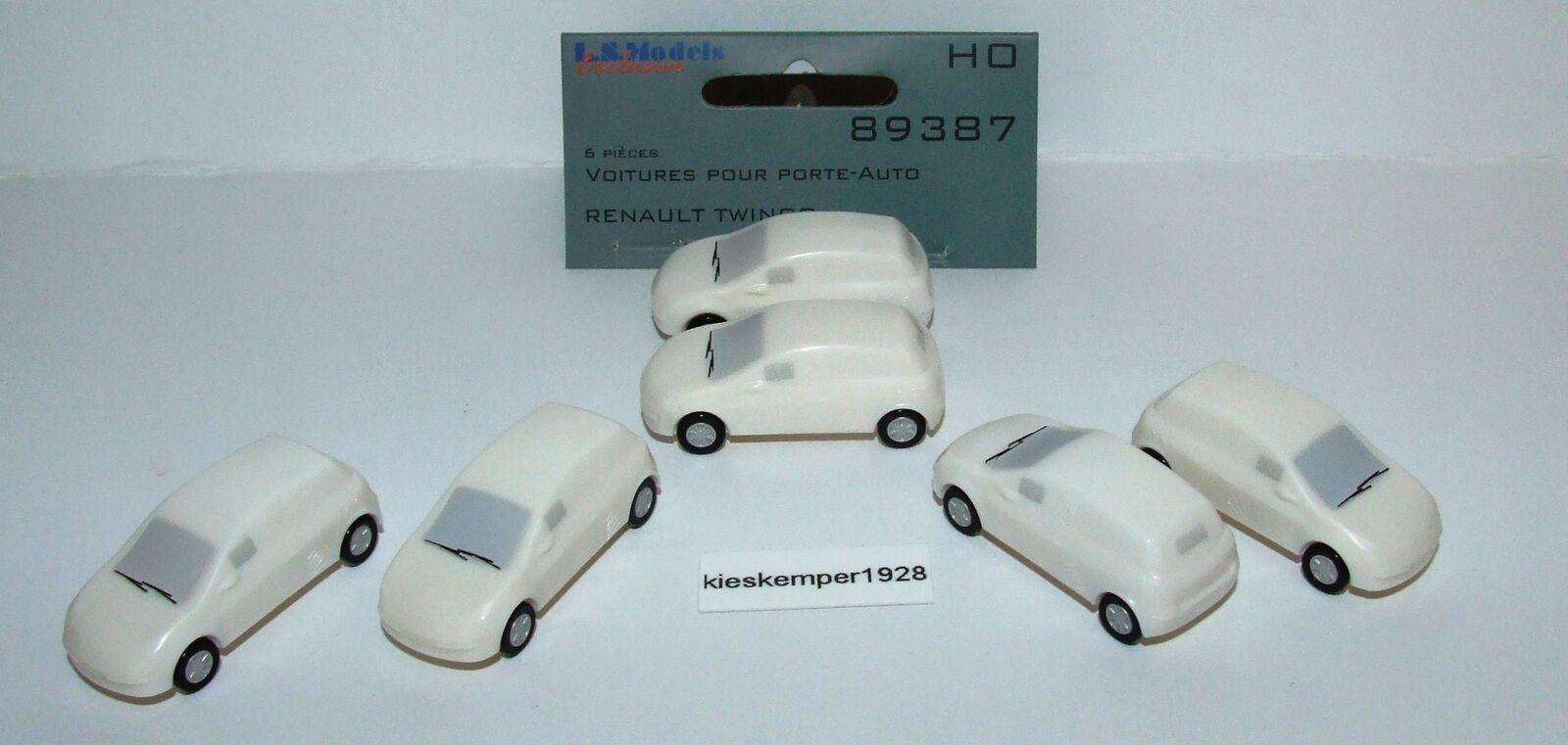 L.S.Models 89387 Ladegut Renault Twingo unter Plane 6 er Set  | Spielen Sie auf der ganzen Welt und verhindern Sie, dass Ihre Kinder einsam sind