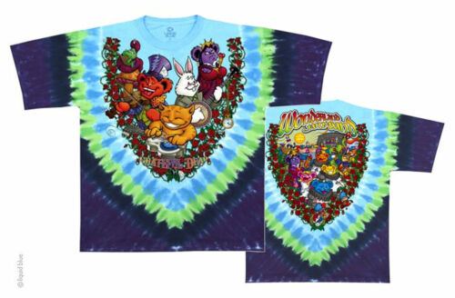 "FREE SHIPPING Grateful Dead /""Wonderland Jamband/"" Double Sided /"" T-Shirt"