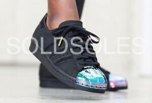 Details about Adidas Superstar Metal Toe Black Iridescent