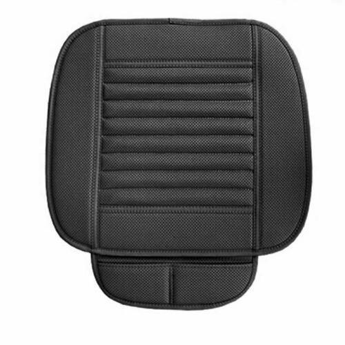 Car Front Seats Cover PU Leather Black Single Bucket Seat Protector Mat Cushion