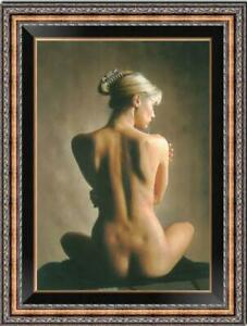 "Hand painted Original Oil Painting art Portrait back nude girl on canvas 24""X36"""
