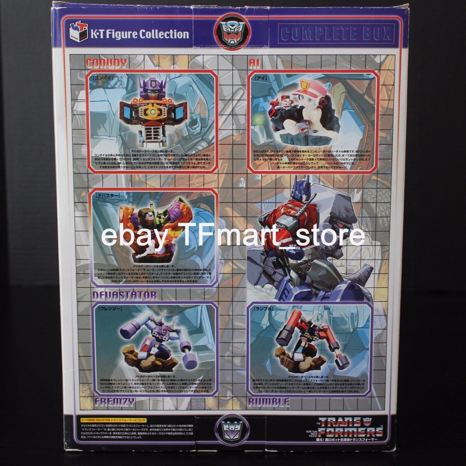 Transformers K-T Mini-Bust Escultura Optimus Optimus Optimus Prime Rumble Frenzy Devastator MIB b77426