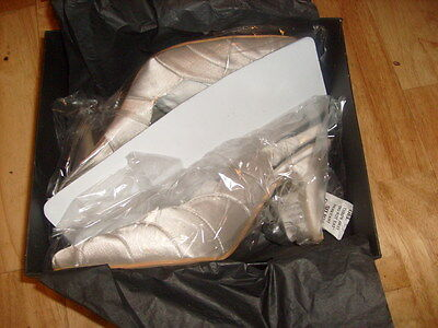 Damas Nupcial Novia Boda Baile de graduación Fiesta Dama De Honor Zapatos Crema Satinado Talla 5 6 7 8