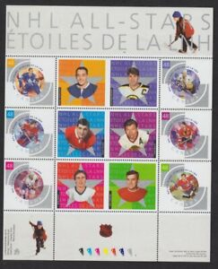 Canada-2003-NHL-Hockey-souvenir-mini-sheet-4-2003-Scott-1971-MNH