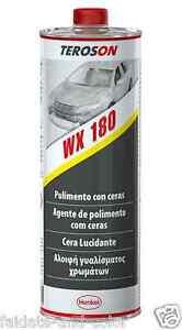 Original New Polish Teroson Wx 180 Lucidante Con Cera Auto Moto Vespa Lt.1