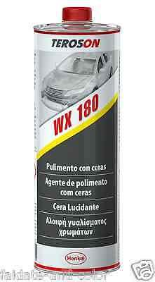 New Polish Teroson WX 180 Lucidante con cera   auto moto vespa   lt.1