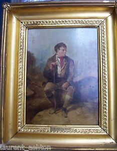ERSKINE-NICOL-1825-1904-ORIGINAL-OIL-PAINTING-ON-PANEL-PORTRAIT-OF-A-MAN-AT-REST