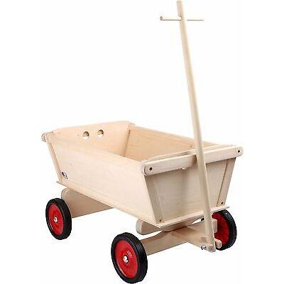 Handwagen für Kinder Holz ca. 50 x 30 x 31 cm Bollerwagen Holz