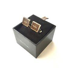 NWT $175 Paul Smith London Men's Gold & Enamel Logo Inset Cufflinks AUTHENTIC