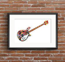 Mani's Rickenbacker 4005 guitar POSTER PRINT A1 size
