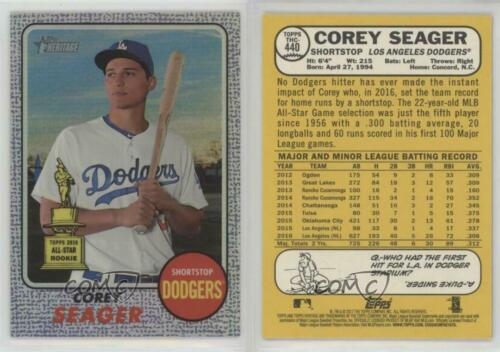 2017 Topps Heritage Chrome Variations Purple Refractor #THC-440 Corey Seager