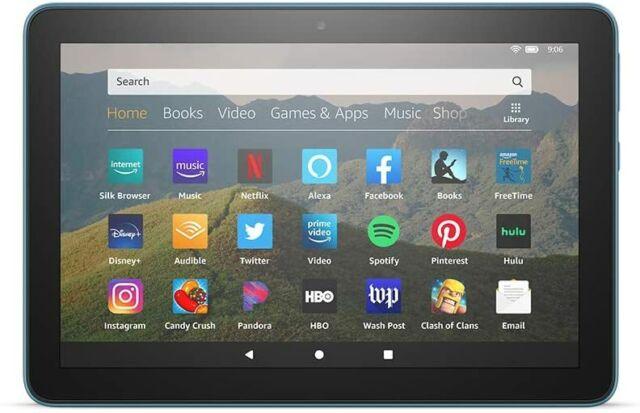 Amazon Fire HD 8 tablet, 32 GB, 10th generation - 2020, Blue [Open-Box]