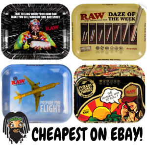 RAW-Small-Medium-amp-Large-Metal-Collectors-Rolling-Trays-All-Designs-amp-Sizes
