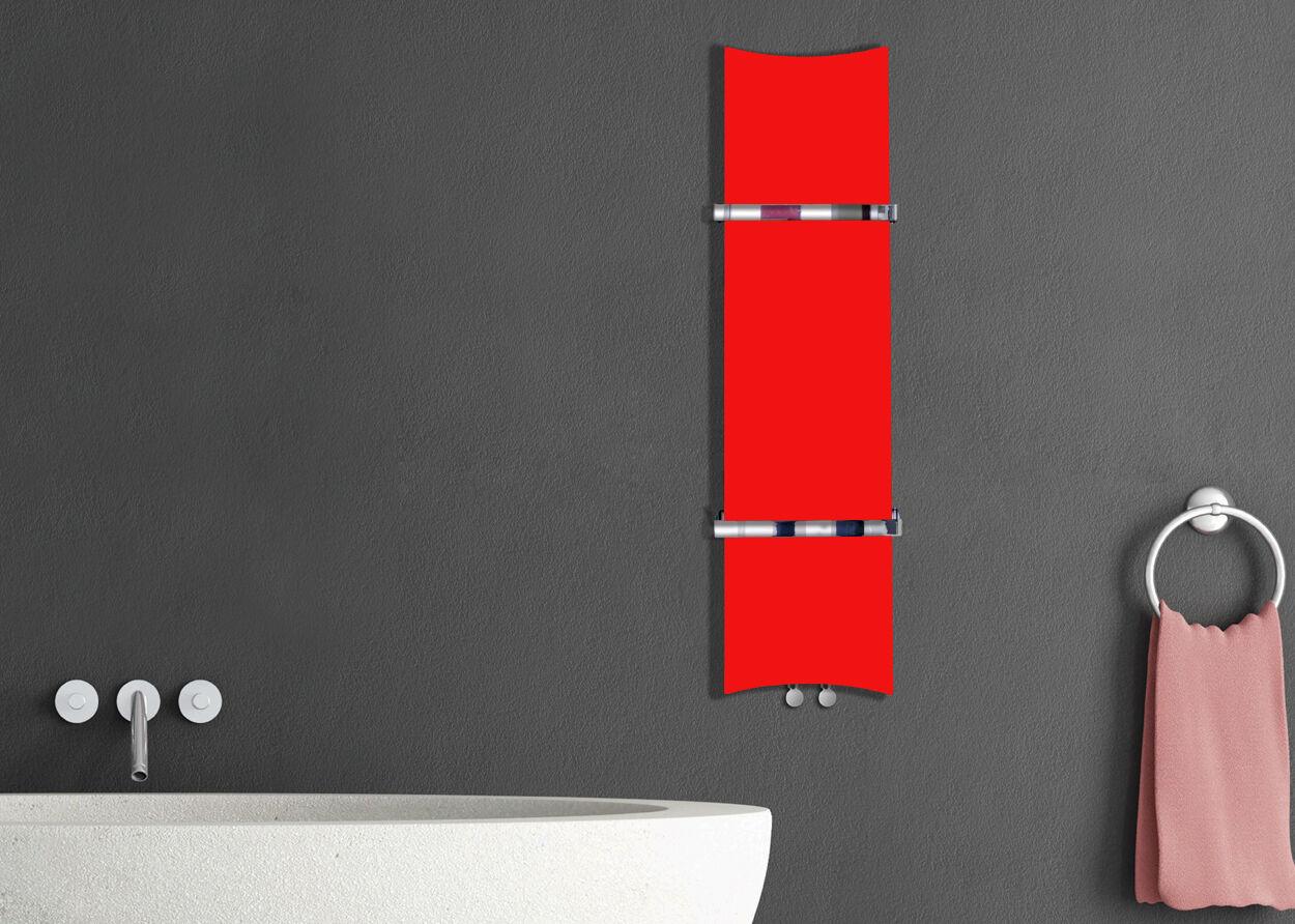 Designer os style Radiateur sèche-serviettes ROUGE largeur 300 mm Hauteur 1200 mm