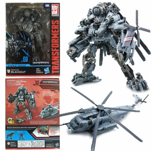 HASBRO TRANSFORMERS STUDIO SERIES 08 DECEPTICON BLACKOUT LEADER CLASS FIGURE TOY