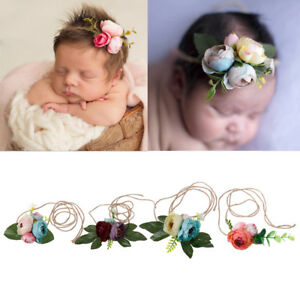 d2934d2c070 Image is loading Girls-Flower-Headband-Newborn-Rose-Headwear-Kids-Tieback-