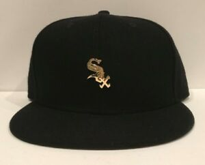 75a634f96db New Era Chicago White Sox METAL GOLD Badge Slick 9FIFTY Snapback Hat ...