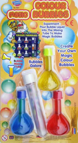 Magic Rainbow Bubbles Boy Girl Gift Birthday Party Bag Stocking Filler Gift Kid
