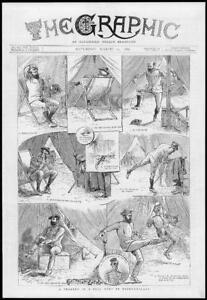 1886-Antique-Print-AFRICA-Bechuanaland-Bell-Tent-Tragedy-Deckchair-176