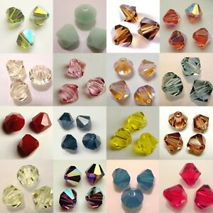 f8976a18096db Details about SWAROVSKI Crystal Element #5301 Bicone Bead COLOUR / AB / 2X  SIZE 5mm 6mm 8mm