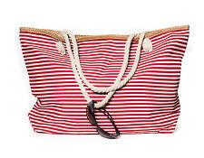 XXL Damentasche Strandtasche Sommer Tasche Badetasche gestreift Rot Weiß Neu