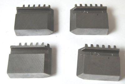 4er Set weich Backen für TOS 125 mm 4 selbstzentrierend Drehfutter BRANDNEU