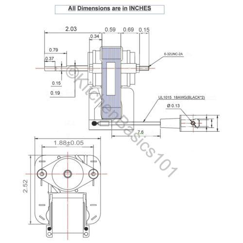 Kit De Reemplazo De Motor De Ventilador De Bano Universal50 Cfm
