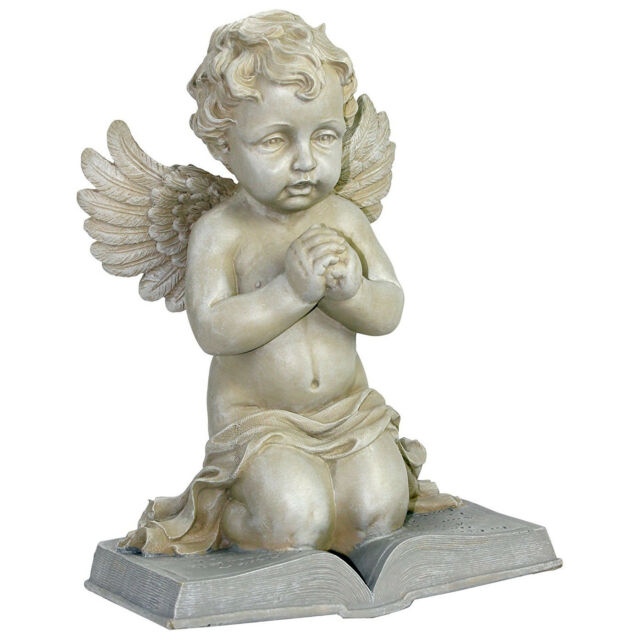 Praying Cherub Memorial Garden Statue Lawn Decor Baby Angel Grave Yard  Sculpture